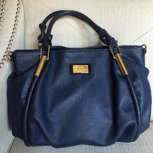 Lulu By Lulu Guinness Navy Blue Shoulder Bag